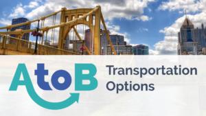 A to B Transportation Options logo